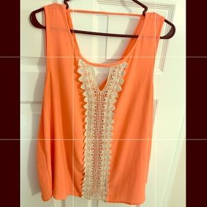 Laced Coral Top!